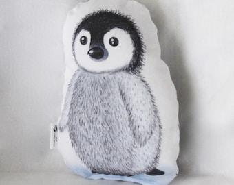 Penguin plush. Baby penguin softie. Penguin stuffed animal. Penguin soft toy.  Gift for baby. Toddler gift. Baby shower gift. Nursery decor.