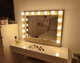 Bathroom Lights With Plugs vanity mirror with lights makeup mirror wall hanging or