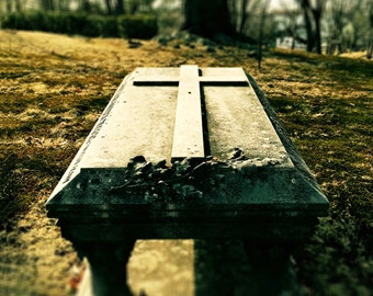 At Rest, 8x10, 11x14, cemetery, graveyard, Salem, tomb, cross, peaceful, Victorian cemetery, fine art photo, old gravestone