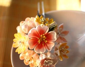 Janpanese kanzashi hair accessory- bridal hair pin, wedding hair pin, bridal hair flower, wedding Headpiece, wedding hair pins