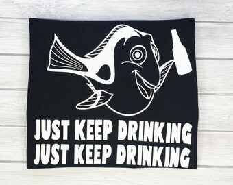 Food and Wine Shirts/Just Keep Drinking Beer Shirt/Food and Wine Shirt/Dory/Epcot/Disney World/Disneyland/Disney
