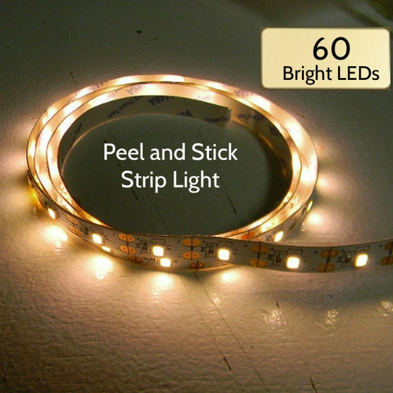Strip Lights 18 Or 60 Warm White Leds On Peel And Stick