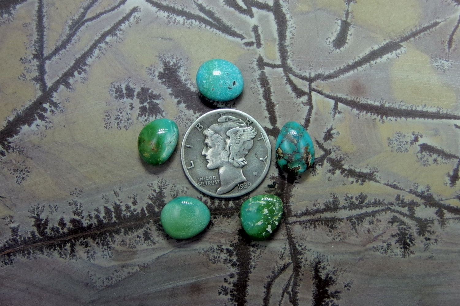 Turquoise Cabochon Royston Turquoise American Turquoise