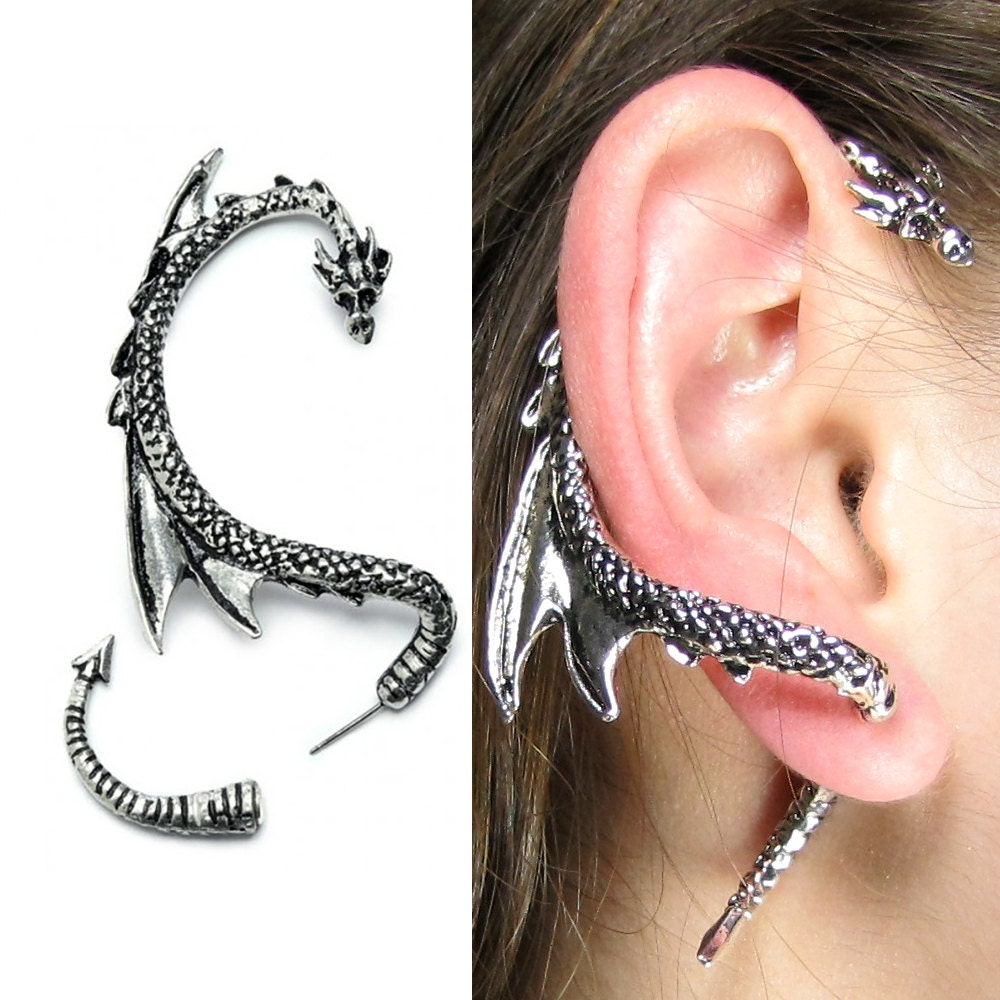 Dragon Ear Cuff Wrap  Game Of Thrones Inspired Dragon Earring, Dragons  Jewelry