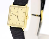 14K Yellow Gold Omega Wrist Watch Square Case