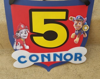 Paw Patrol Party Sign