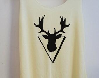 CLEARANCE Deer Alway Deathly Style Pop Punk Rock Tank Top Vest Women T shirt lady T-Shirt Size S,M,L