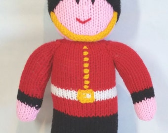 Soldier Ornament - Handknitted Queens Guard Soldier/Handmade London Foot Guard Doll/British Soldier Doll/Gifts for Him/Gift for Her/Soft Toy