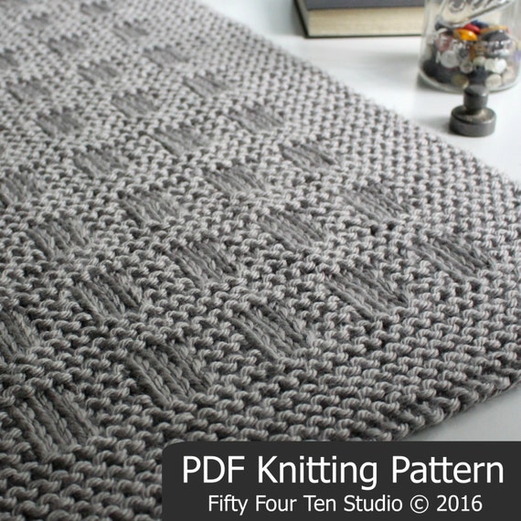 Knitting Pattern Blanket Throw : KNITTING PATTERN / Westport Blanket / Throw / Afghan / Knit