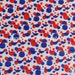 Red White Blue Polka Dot Print Fold Over Elastic for Baby Headbands 5 Yards of 5/8 inch FOE - Patriotic Sold By The Yard - 4th of July