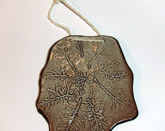 Hand Made Ceramic Wall Hanging - Dusty Miller Plant