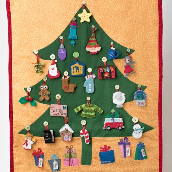 Christmas Tree Advent Calendar, christmas countdown, gift advent ...