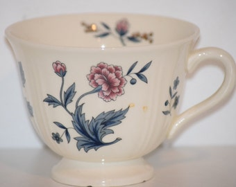 Wedgwood Ivory Sturdy Teacup with Hand Painted Details