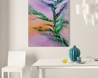 Delight of fly - 90x60 cm, Original Abstract Paintings, oil on canvas, contemporary art