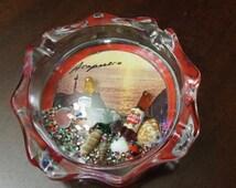 Acapullco; Novelty Ashtray; Bubble display; Approx. 1 x 3.5 in; Corona !!!