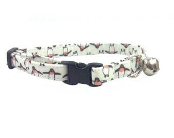 Cute  Penguins Cat or Kitten Breakaway Safety Collar