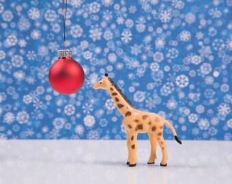 Mini Giraffe Christmas Card