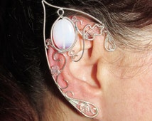 Elf Ears - Lady of Light, elf costume, elf ear cuff, elf ear wrap, elf cosplay jewelry