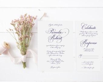 Elegant Romance Invitation Suite-DIGITAL/PRINTABLE