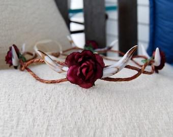 Antler Rose Crown
