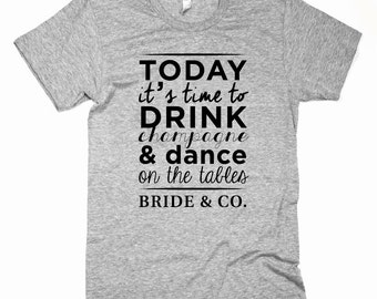 Bachelorette t-shirt-model BRIDE & co.-(price is for the purchase of 5 shirts)