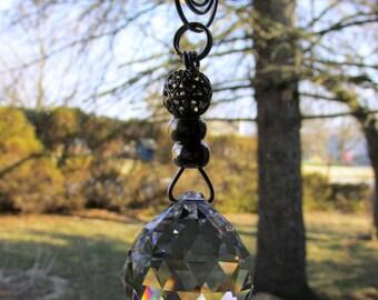 Suncatcher Garden Art in Beach Design With Crystal Disco Ball Prism