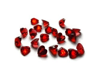 Red Crystal Heart Floating Charm for Floating Lockets-5mm-Siam-July Birthstone-Great Gift Idea