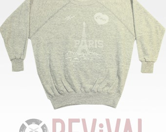 Vintage Paris France Sweatshirt ~~~~~ XS-S