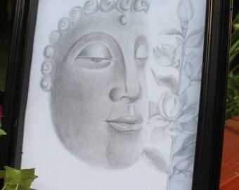 Pencil Buddha Drawing