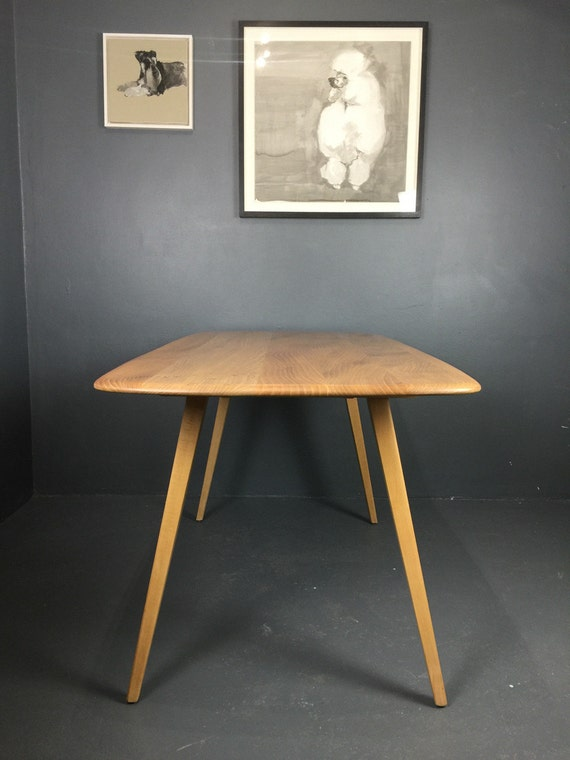 vintage ercol plank dining table 1960s refurbished vintage