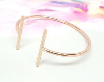 T Bar Parallel Bar Cuff Bangle Bracelet