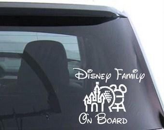 Disney Family on Board // Disney Car decals // Disney // Disney Trips // Family Vacation