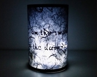 Game of thrones lamp - paper lantern game of thrones home decor, game of thrones quotes, game of thrones gift for men - candle lantern
