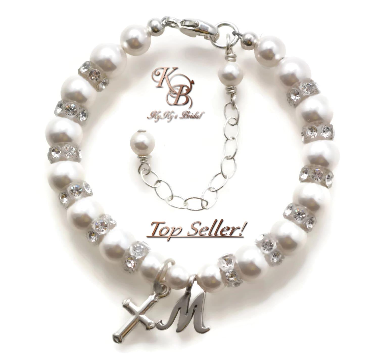 Baby Charm Bracelets: Christening Gifts Baptism Bracelet Baby Bracelet