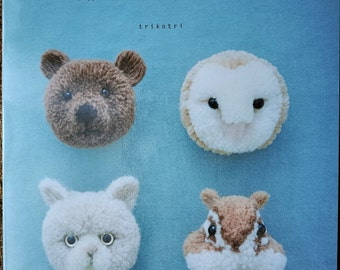 Pom Pom Animal by trikotri - Japanese Craft Book