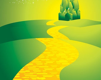 Emerald Castle of the Oz Lands Backdrop (FD5108)
