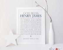 Baptism Printable. Baptism Gift Boy. Baptism Print. Personalized Baptism Gift. Boy Baptism Gift. Christening Boy. Baby Boy Christening Gift.