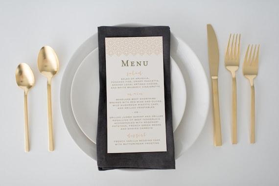 stella wedding menus (sets of 10)  // lola louie paperie