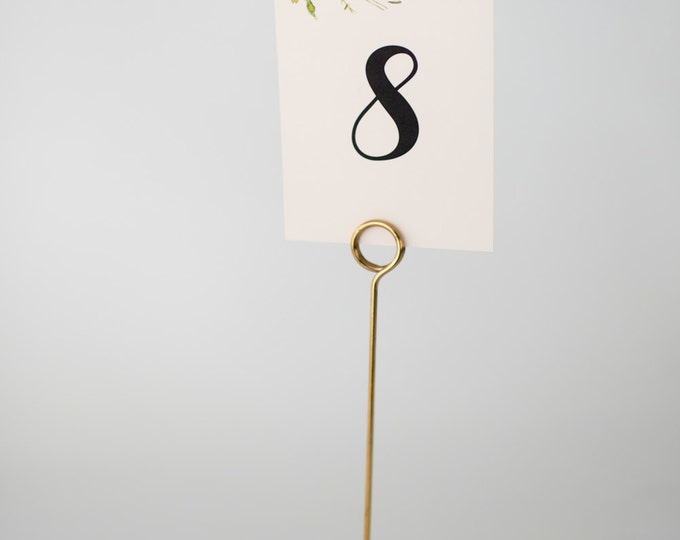 maeve table numbers  //  watercolor floral romantic calligraphy wedding table numbers