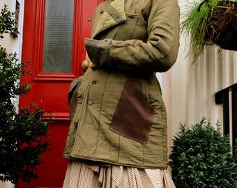 Customised Military Hooded Quilting Coat-- Thick and Warm