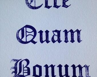 Ecce Quam Bonum Print