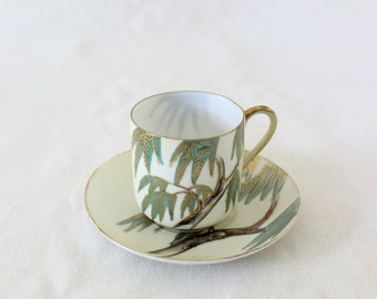 Vintage Japanese Weeping Willow Teacup and Saucer