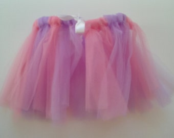 Pink and Lavender Tulle Girls' Skirt