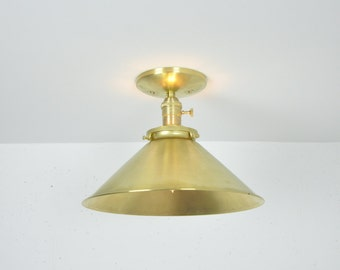 12 inch Ceiling Mounted Light Unfinished Brass
