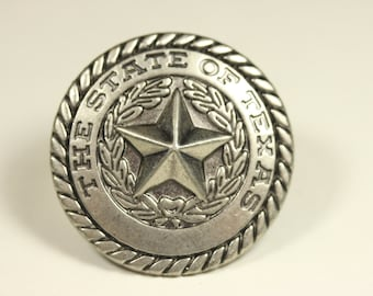 The State of Texas Knob - Antique Silver