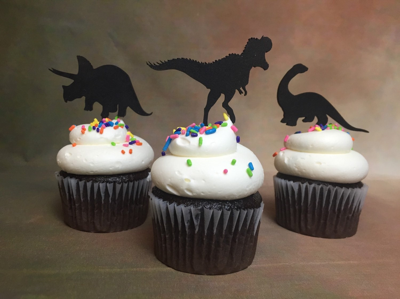 Dinosaur Cupcake Toppers Dinosaur Theme Party Jurassic
