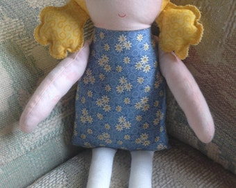 Rag Doll, Fabric Doll, Girl Doll, Cloth Doll, Toy