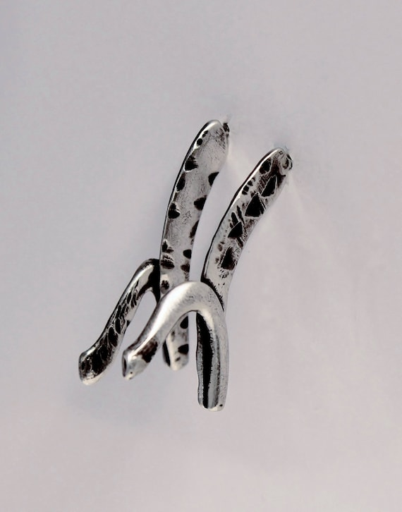 Tribal Oxidized Silver Earrings, Art Jewelry | Sterling Silver Earrings |  Boho Silver Earrings | Metalsmith Jewelry One Of A Kind  Earrings