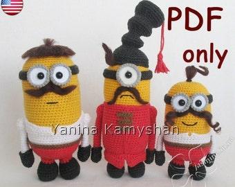 Funny Cossack monsters, amigurumi crochet pattern