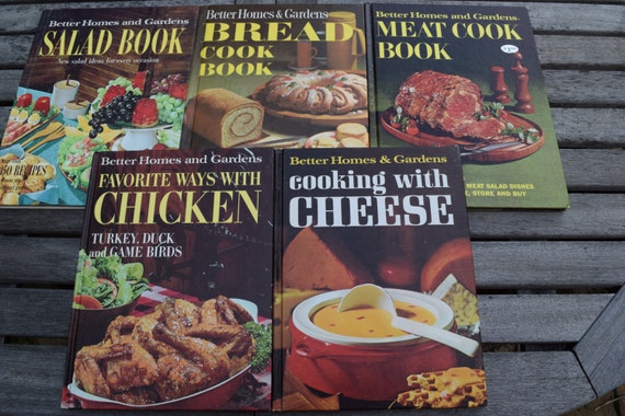 5 vintage 1960 39 s better homes and gardens cookbooks - Vintage better homes and gardens cookbook ...